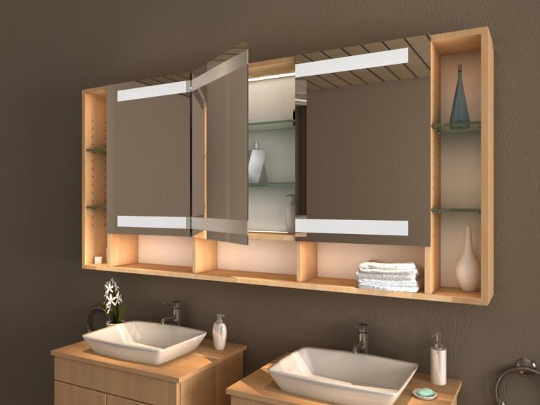 Spiegelschrank fürs Bad - Konfigurieren Sie selbst! - Badspiegel.de