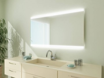 Beleuchtung oben unten | Badspiegel.de