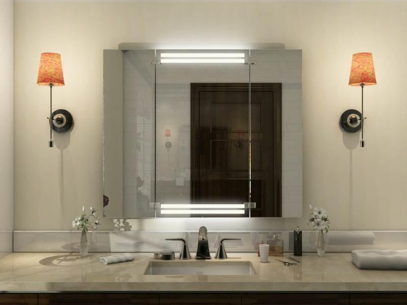 Badspiegel klappbar Santis