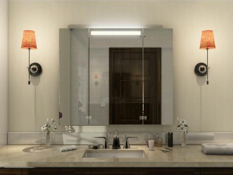 Badezimmer Klappspiegel Portland