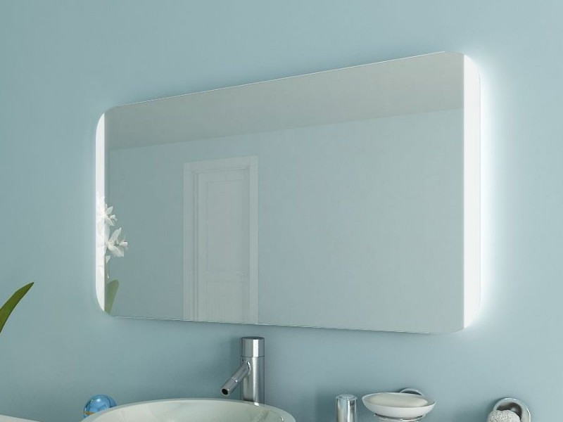 Badspiegel mit abgerundeten Ecken Melba