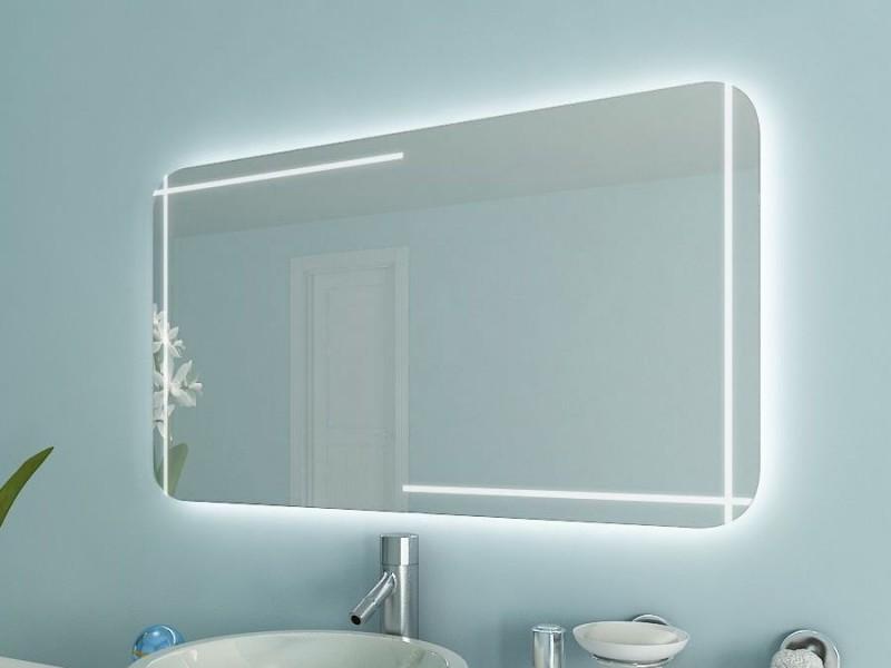 Badspiegel mit Rundungen Anjana