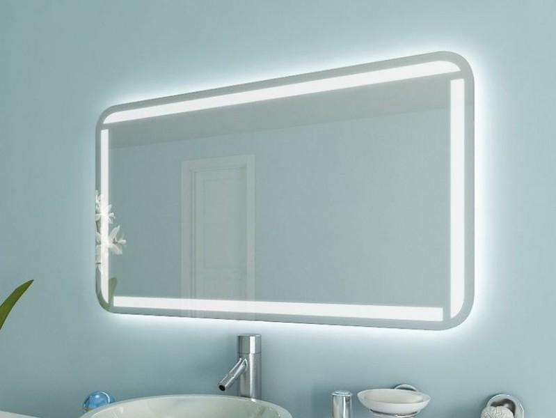 Badspiegel mit runden Ecken Mala