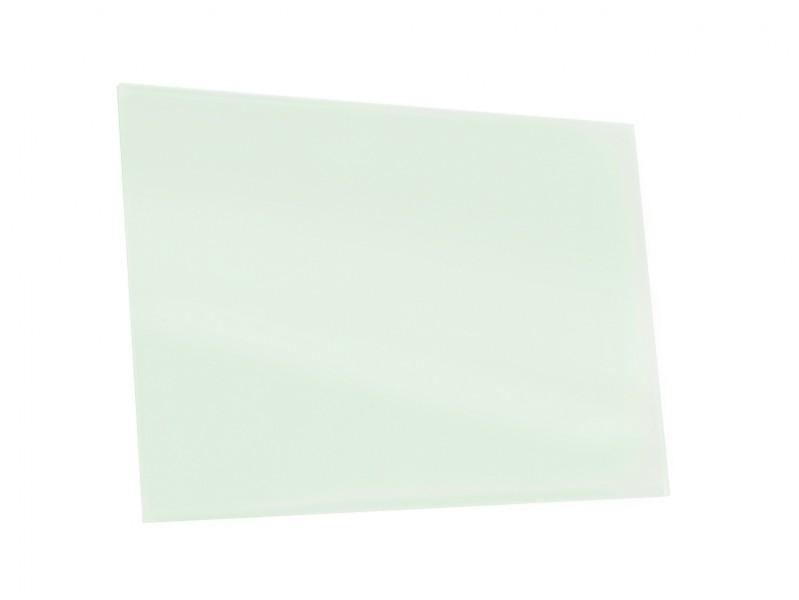 Lackiertes Glas - WEISS - mit leichtem Grün-Schimmer
