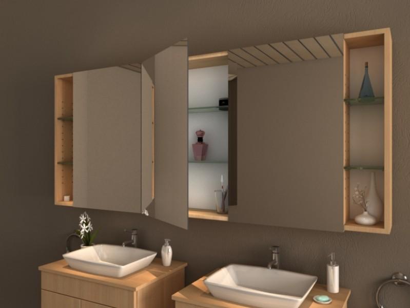 Bad Spiegelschrank Mit Regal Atacama