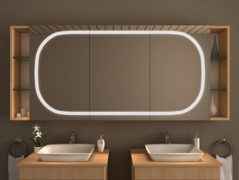 Spiegelschrank mit Ablage - Batur