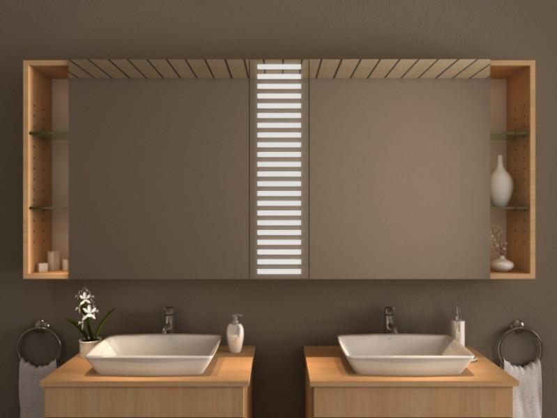 Spiegelschrank mit Beleuchtung - Kreta