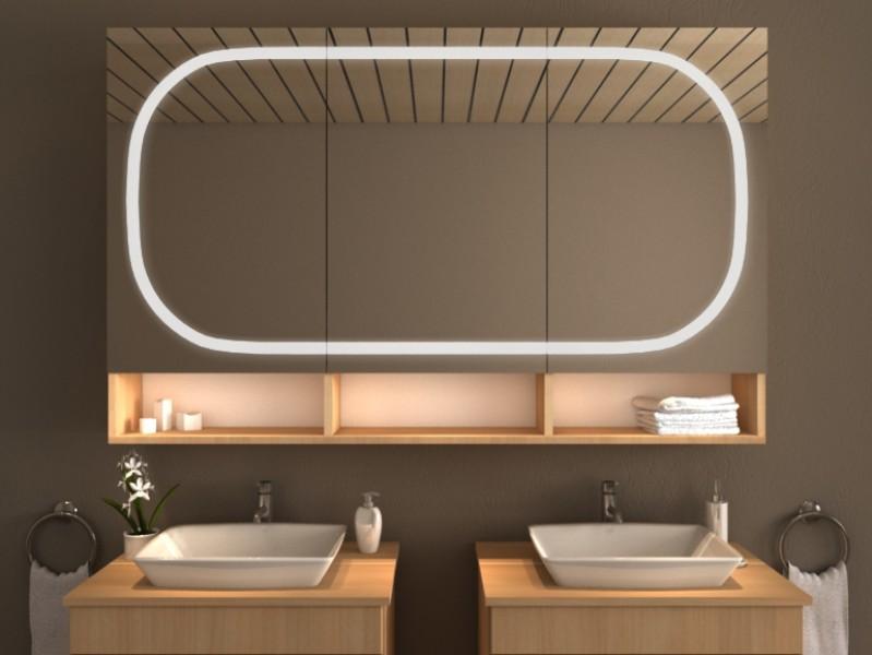 Spiegelschrank mit Beleuchtung - Overo