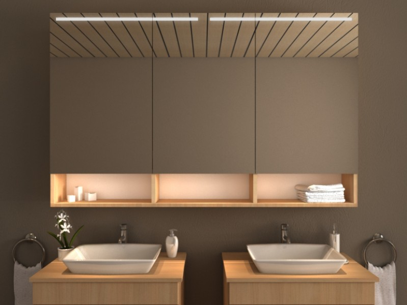 Spiegelschrank mit Beleuchtung - Bayo