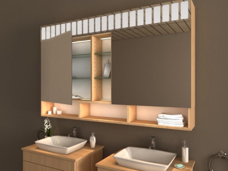 Spiegelschrank mit Ablage - Iwaki