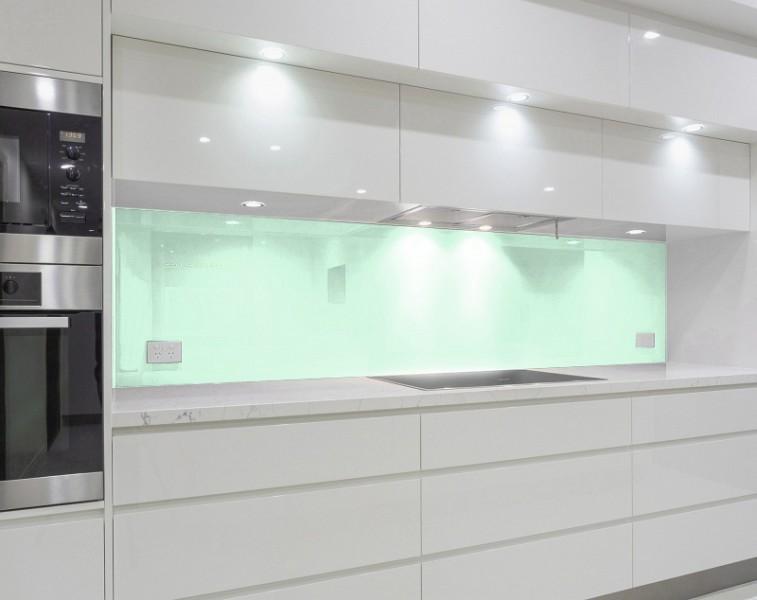 Küchenrückwand, Nischenrückwand - MINTGRÜN / PASTELLGRÜN