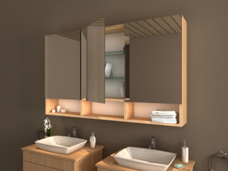 Badspiegelschrank mit Ablage Colorado