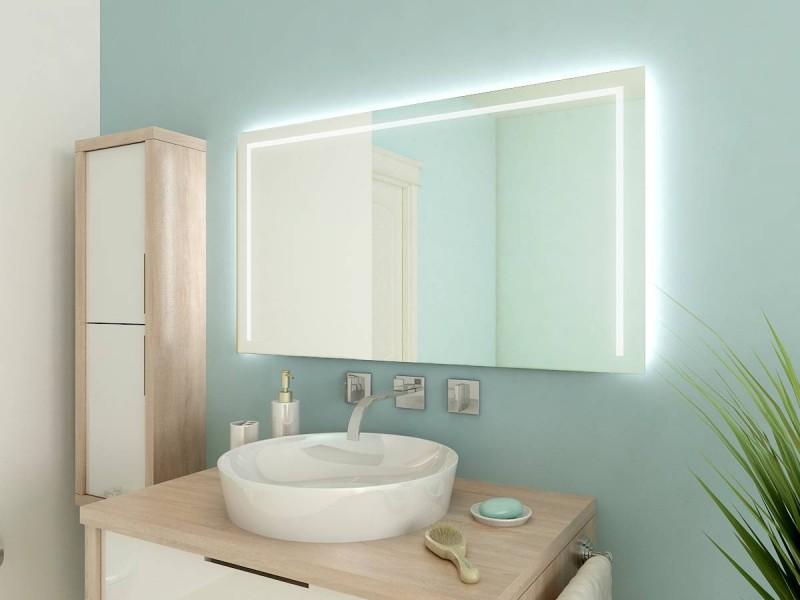 Badspiegel beleuchtet Garland