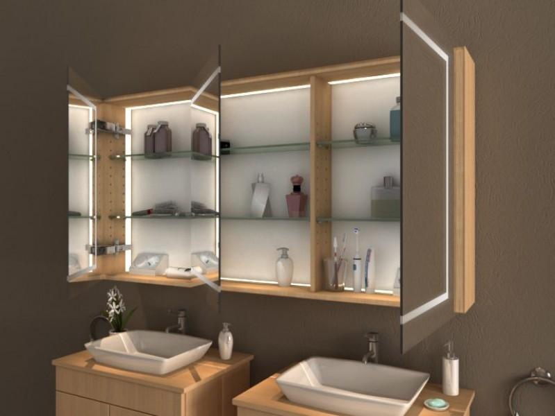spiegelschrank mit beleuchtung yang. Black Bedroom Furniture Sets. Home Design Ideas