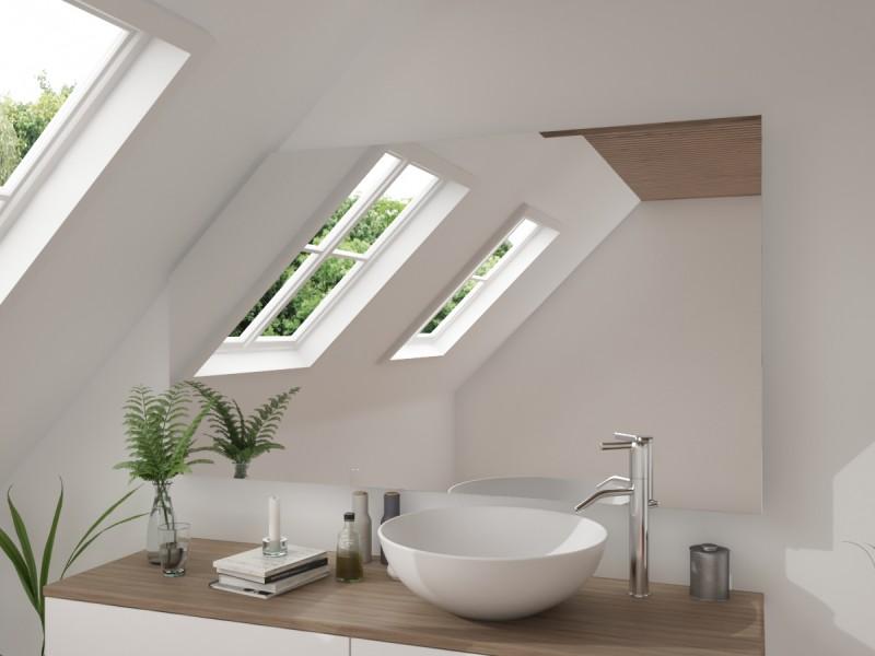 Relativ Badspiegel mit Dachschräge ohne Beleuchtung Facirasu PE41