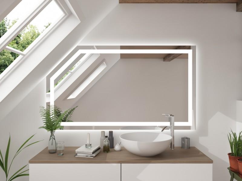 LED Badspiegel Mit Dachschräge Aloja