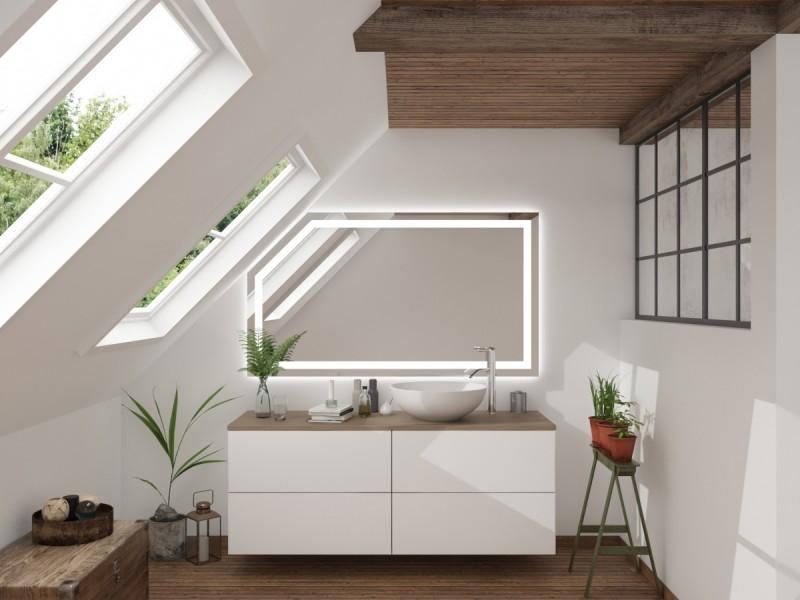 badspiegel mit dachschr ge aloja f r ihr bad im dachgeschoss badspi. Black Bedroom Furniture Sets. Home Design Ideas