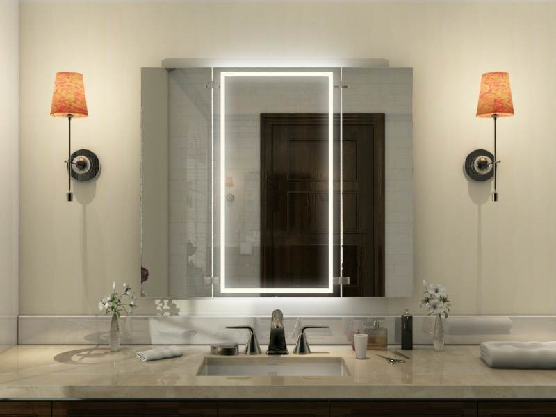 Badezimmerspiegel klappbar Tamaya